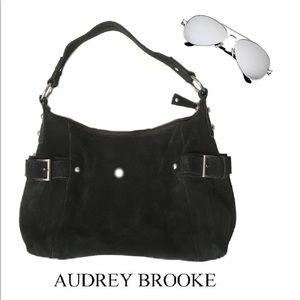 AUDREY BROOKE 100% Leather Suede Shoulder Bag